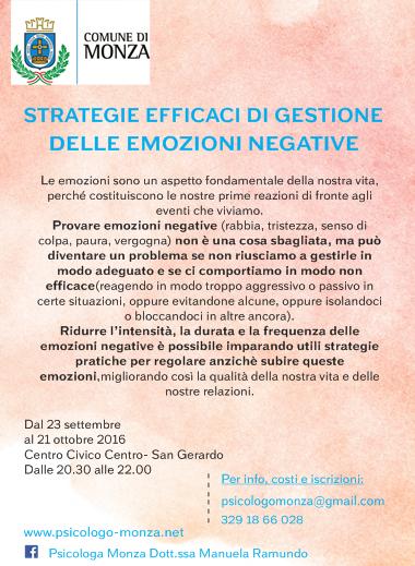 Psicologo Monza gestione emozioni