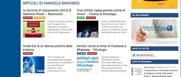 psicologo Monza articoli di giornale